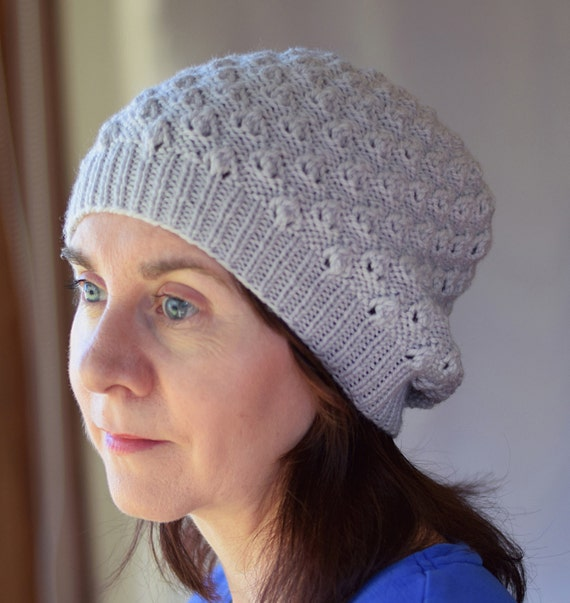 Textured Lace Knit Hat Pattern Linden Slouchy Hat Knitting Pattern