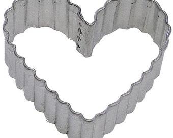 Fluted Medium Heart 3.5'' Cookie Cutter