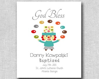 Baby Boy Baptism Gift - Christening Gift - Personalized Baptism Gift - Nursery Decor