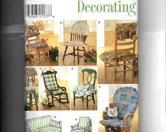Simplicity  Chair Pads, Futon and Glider Covers  Pattern 7966