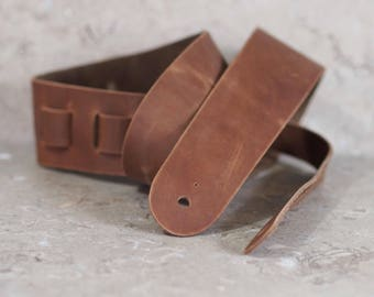 Back in Stock: Chocolate Brown Leather Guitar Strap