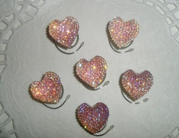 Bridesmaids Heart Hair Swirls-Pink Aurora Finish-Prom-Ballroom Dancing Spirals