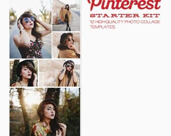 Pinterest Starter Kit, plantillas de tablero Blog - conjunto de 12 plantillas para fotógrafos