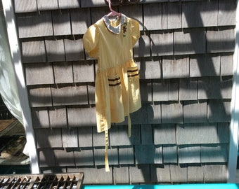 Beautiful yellow sun dress 3x toddler excellent1940s