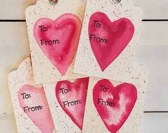 Heart Gift Tags, Valentine's Day