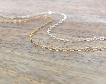 Sterling Silver Anklet Thin Silver Ankle Bracelet Gold filled Anklet Beachy Anklets Everyday Jewelry Foot Bracelet Simple Chain Anklet