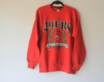 Vintage '94  Red San Francisco 49ers Pull Over Sweatshirt