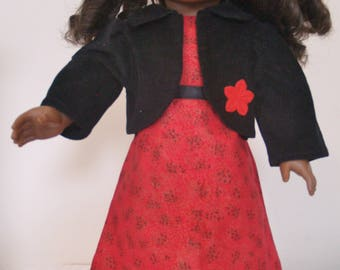 red dress with jacket for 18'' doll