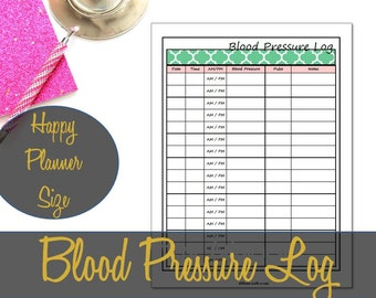blood pressure chart print out
