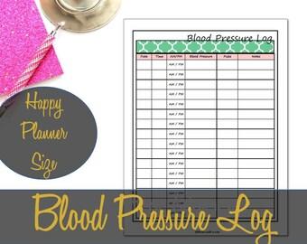 blood pressure chart to print