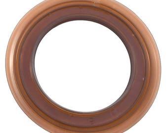 Set of 8 grommets curtains premium clip-on Brown transparent (set of 8 pieces)