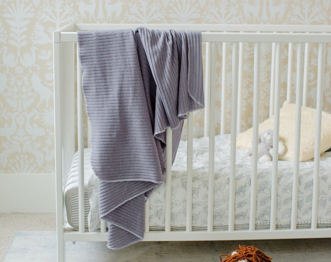 Featured listing image: Baby Swaddle- the | Ash | Grey Swaddle Blanket