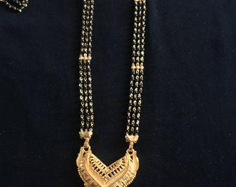 Mangalsutra long necklace costume ethnic bridal jewellery