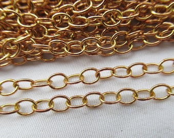 10ft Copper Chain 4x3mm Oval Link Chain Finding Supplies cc021