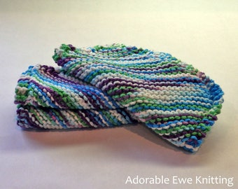 Set of 3 Knitted Dishcloths