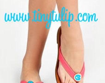 Monogrammed Flip Flop Style Sandal