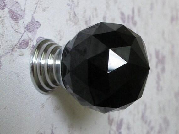 noir boutons de verre commode poign es boutons de tiroir. Black Bedroom Furniture Sets. Home Design Ideas