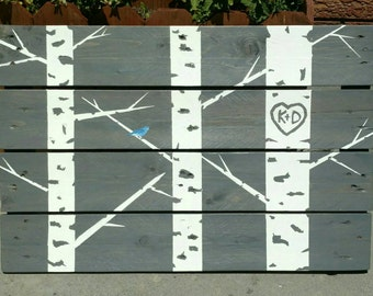 Customized Aspen wall art - Pallet wall art