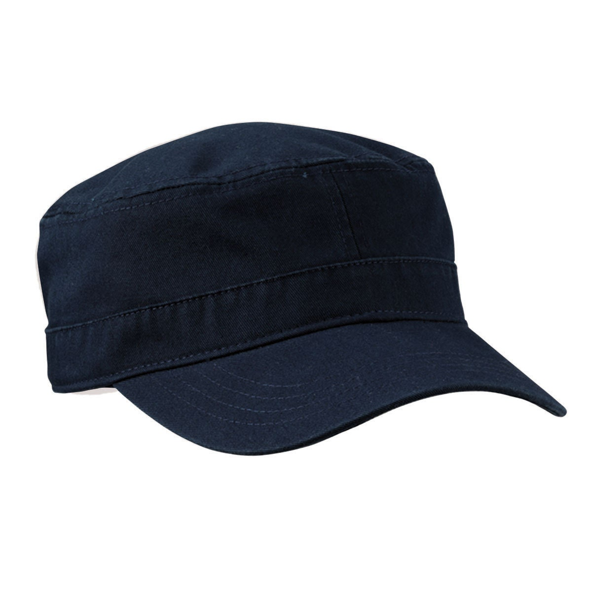 Beechfield B660 Snapback Cap navy/red with custom embroidery, about 5,5cm  high