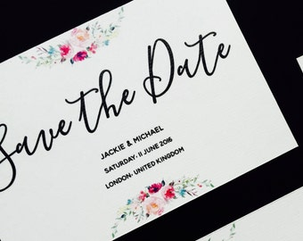 Floral Save the Date - Elegant Save the Date - Simple Save the Date - Wedding Save the Date - Save the Date card