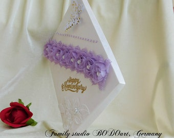 Gift box for couple. Amethyst anniversary. Sapphire anniversary. Wedding day gift box. Sapphire wedding gift. Wedding day card box.