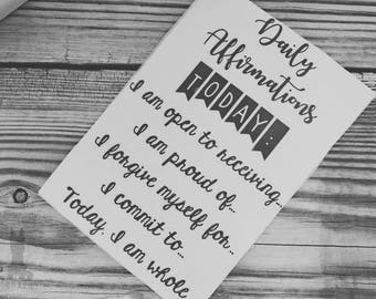 Daily Affirmations 5x7 vinyl decal