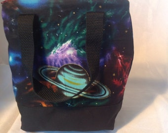 Solar System  Insulated Zip-up Lunch bag  KID SIZED
