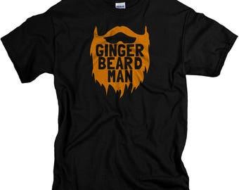 Beard Gifts for Men - Ginger Beard Man Tshirt - Funny T shirts for Him