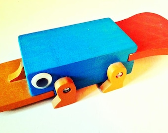 Perry The Platypus In-Action Figure from Phineas & Ferb (cartoon), Wooden Perry, Agent P