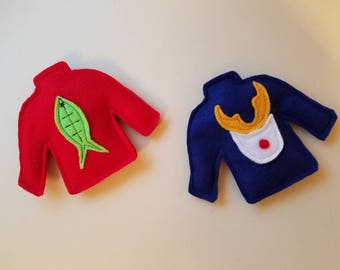 Ugly Sweater Christmas Cat Toy | Organic Catnip-Filled Felt Toy | Holiday Gift for Cat Lover