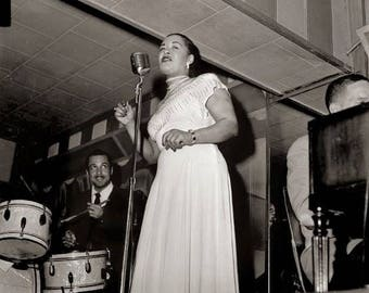 Billie Holiday performs at Club Bali in Washington, DC in September 1948
