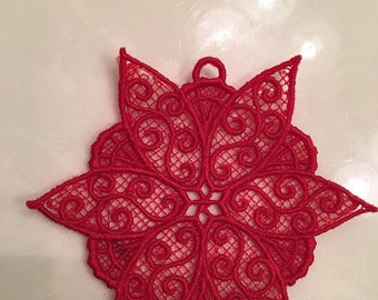 Embroidered lace Christmas Ornaments