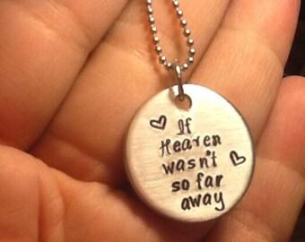 If Heaven wasnt so far away