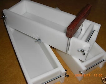3-4 Bar Cutter & No Liner Soap Molds Wooden Lid Avail. E