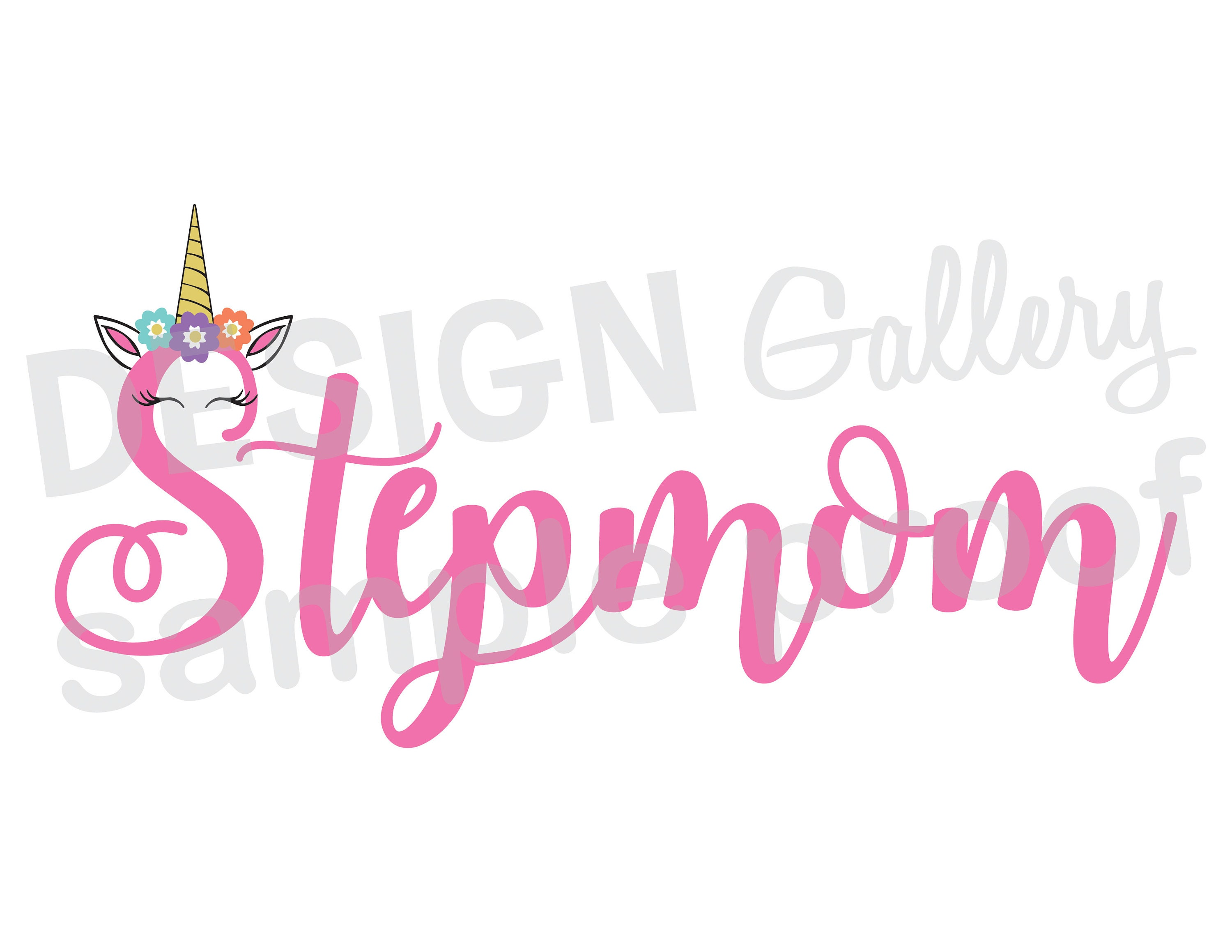 Stepmom Unicorn JPG png & SVG DXF cut file Printable