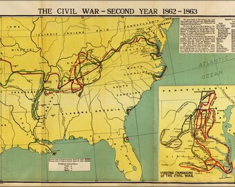 Poster, Many Sizes Available; Map Of Civil War Second Year