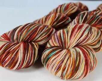 Skein hand - dyed Fingering - superwash Merino - and Nylon 100 g / m 425 - fall * (fall series)