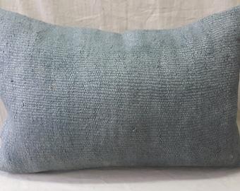 "Kilim Pillow Cover Feet:1'3""2'0"" 40cm ×60cm  Kilim Pillow Cover Cushion Cover Decorative Pillow Hemp Pillow Gray Pillow Lumbar Pillow Ethnic"