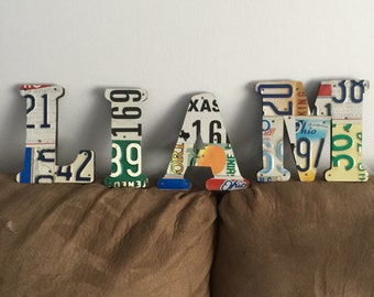 License plate letter - Initials - Mancave - Womencave - Fathers Day - Car lovers - Name - Folk Art