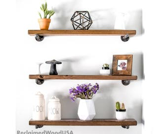 Floating shelves, Industrial Shelf, Modern, Barn, , floating shelf, Reclaimed wood shelves, Pipe shelf, Rustic shelf, Shelf