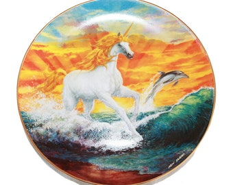 """Ken Barr Magical Moment 8 1/4"""" Collectible Plate 23K Gold Trimmed with COA"""