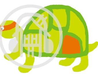 orange ninja turtle michaelangelo