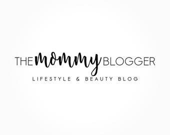 The Mommy Blogger Logo Design, Blog Logo, Blog Header, Business Card Branding, Black And White Logo, Premade Logo