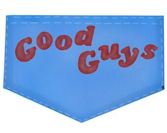 "Child's Play Chucky ""Good Guys"" pocket sticker"
