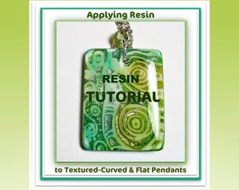 Polymer Clay Tutorial: How to Apply Resin Tutorial- Applying Resin to Polymer Clay Pendants- PDF Lesson- Resin Tutorial