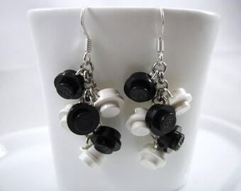 White/Black LEGO® Cascade Earrings