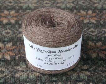 JaggerSpun 2/8 Hickory Heather Wool Yarn