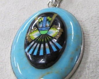 Sterling Silver Pendant with Indian Design