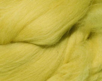 Merino Wool Roving / Combed Top / Wool in Citron (DHG)  - 4 ounces