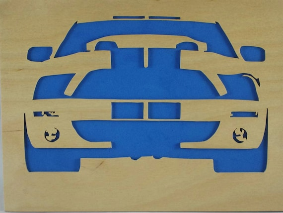 Ford Mustang 8 x 10 Wood Wall Art Portrait Handmade From 3mil Birch plywood